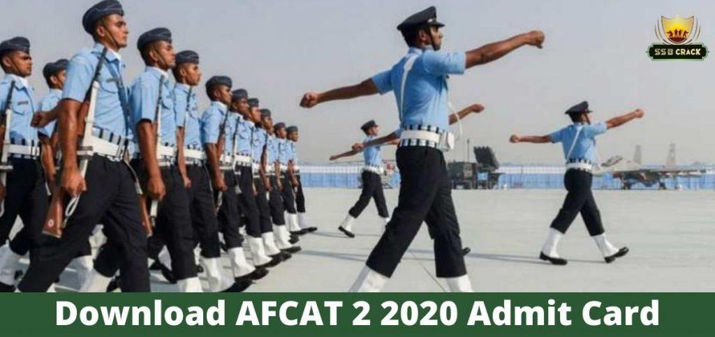 AFCAT 2 2020 Admit Card